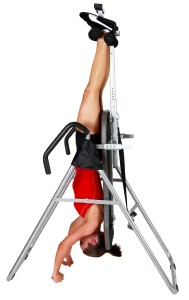 Body Champ Inversion Table in full inversion