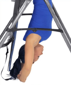 Inversion Table in Lock-Out Position